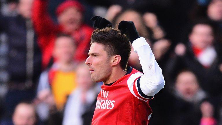 Olivier Giroud: Hoping his Arsenal form furthers his international career