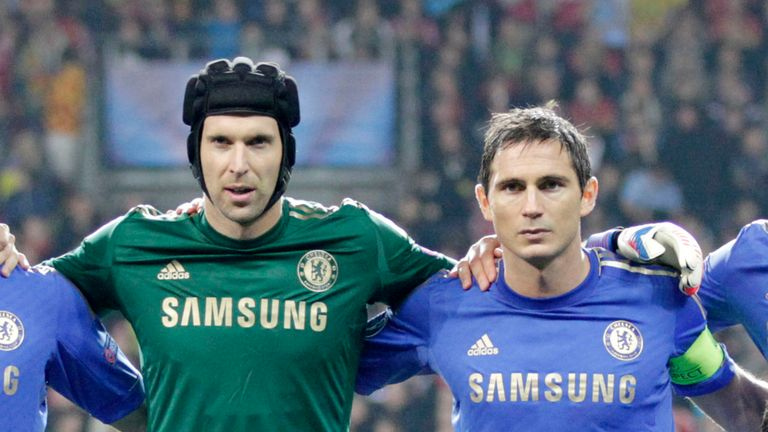 Petr Cech and Frank Lampard together at Chelsea