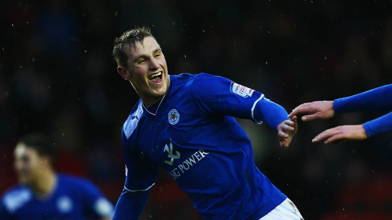 Chris Wood: Leicester's hat-trick hero celebrates at Ashton Gate