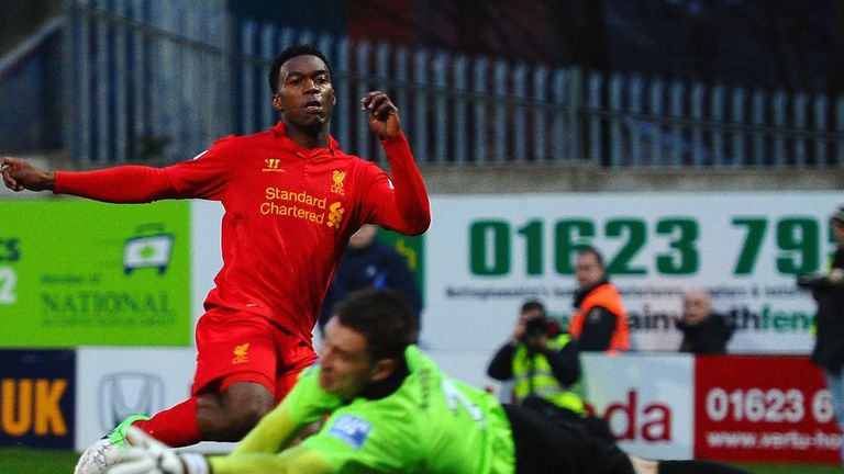 Daniel Sturridge: Scoring his first goal for Liverpool