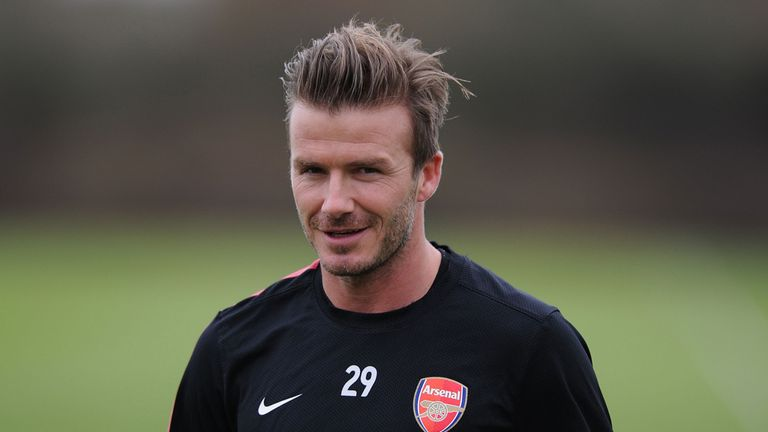 David Beckham: Building up fitness with Arsenal