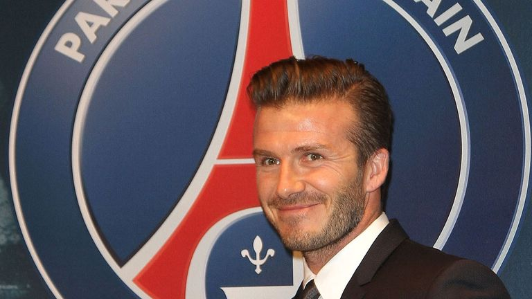 David Beckham: Has linked up with PSG on a short-term contract