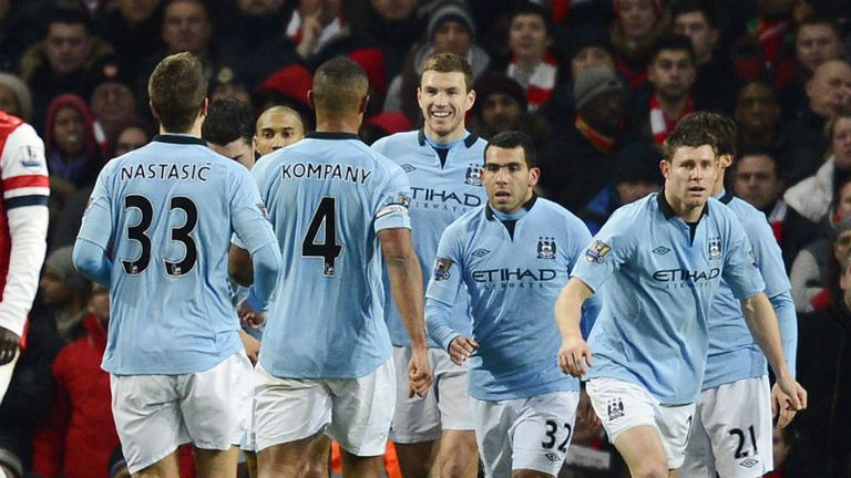 Manchester City: Celebrate Edin Dzeko's goal at Arsenal