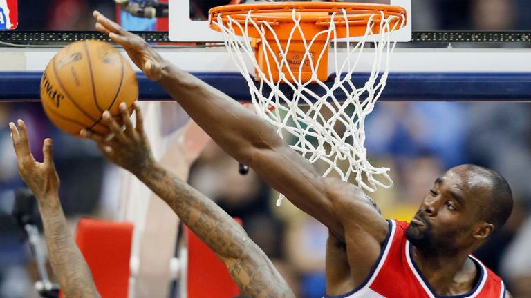Emeka Okafor: 15 points and 16 rebounds for the Wizards