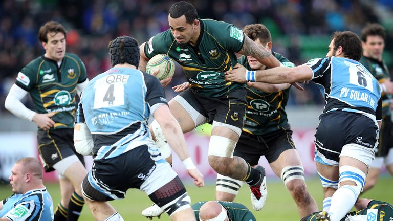 Match action from Glasgow's win over Northampton