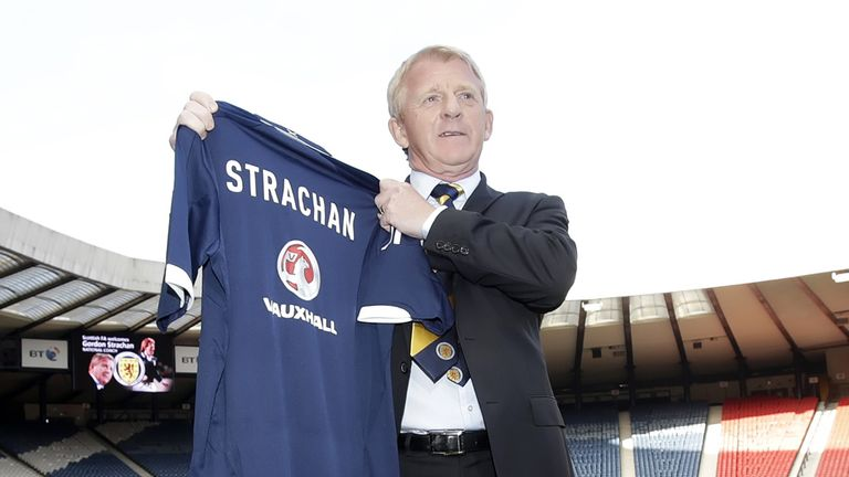 Gordon Strachan: Took his first training session as Scotland manager on Monday