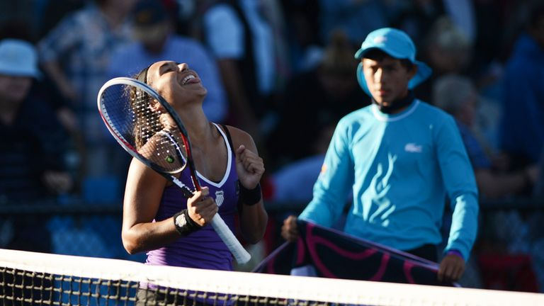 Heather Watson: Came from a set and a break down