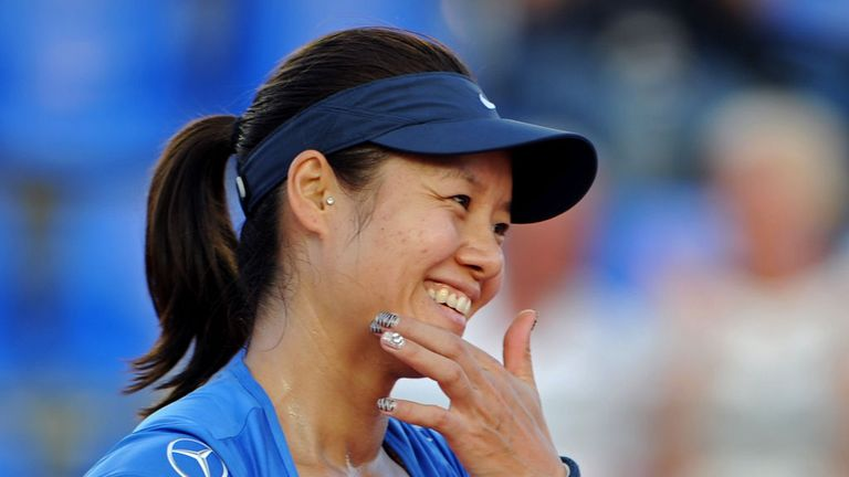 Li Na: All smiles after finishing off Klara Zakopalova following a nervy final set