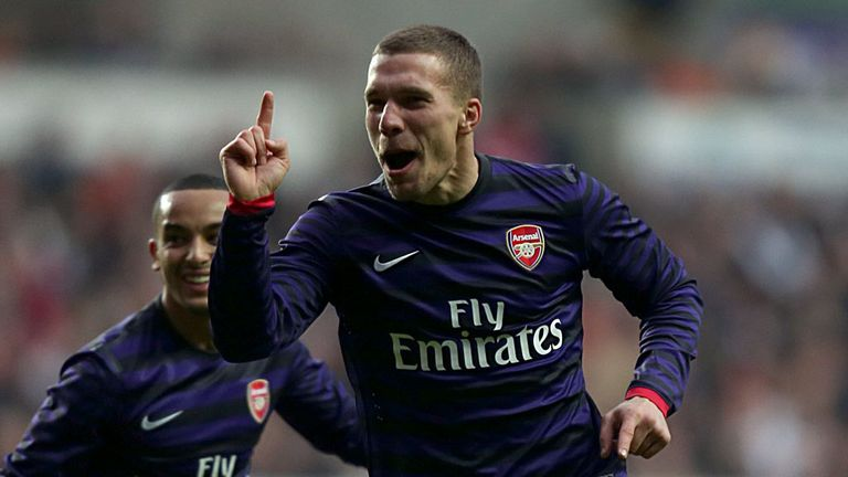 Lukas Podolski: Looking forward to taking on former club in the Champions League