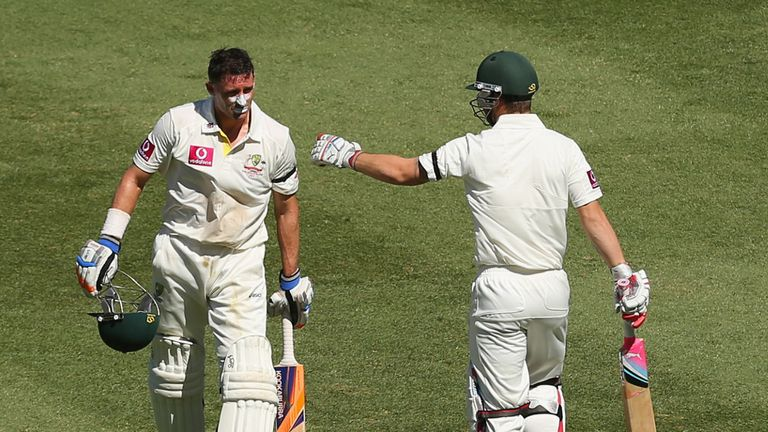 Mike Hussey: Australia batsman on way back to pavilion after being run out