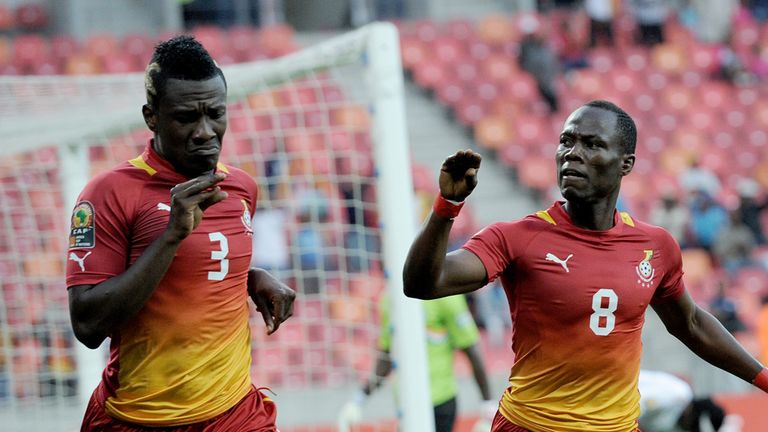 Asamoah Gyan and Agyemang Badu: Lead the celebrations