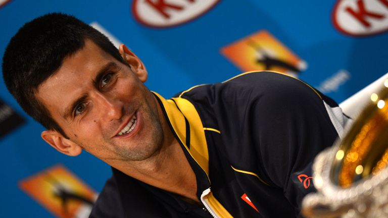Novak Djokovic: struck 47 winners to Murray's 29 to win the trophy