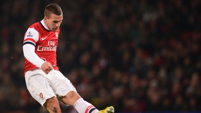 Lukas Podolski: 11 goals for Arsenal this season