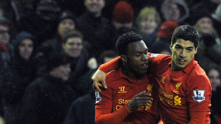 Daniel Sturridge and Luis Suarez: Set to start in attack for Liverpool against Tottenham