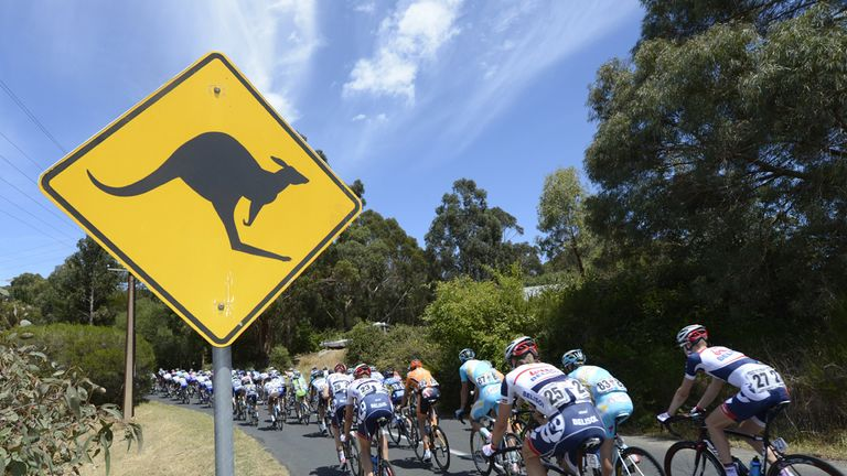The Santos Tour Down Under is held around Adelaide