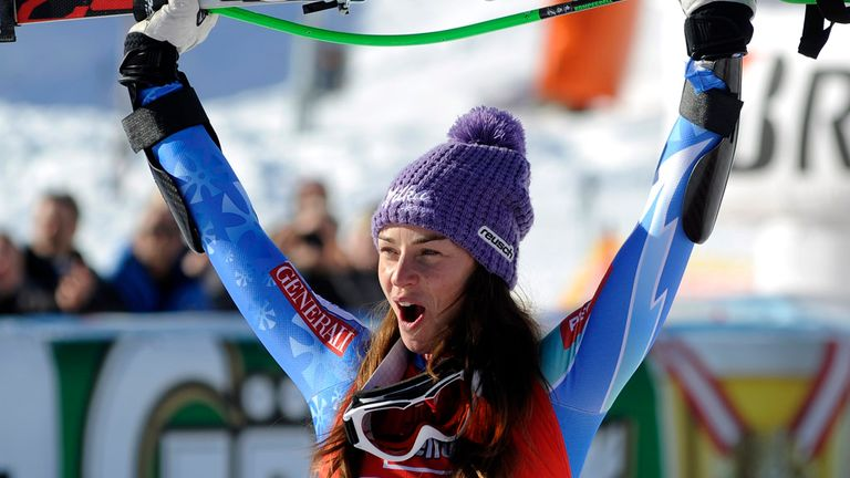 Tina Maze: Has now won a World Cup race in all five alpine skiing disciplines
