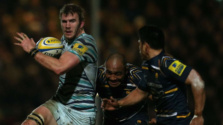 Tom Croft in action against Worcester on Friday night