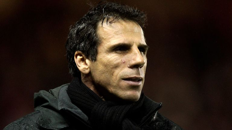 Gianfranco Zola: Rare defeat for the Italian