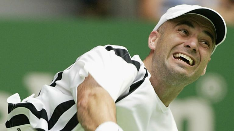 Mark enjoyed watching Agassi progress from wild child to tennis great