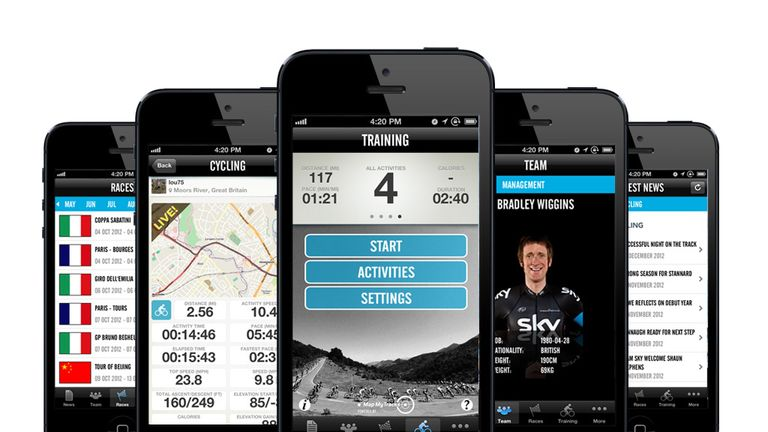 The new Team Sky app in all its glory