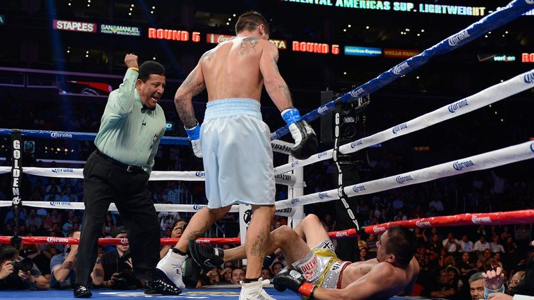 A familiar sight as Matthysse floors another opponent - Humberto Soto on this occasion in 2012