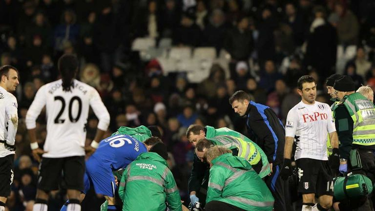 Ivan Ramis: Wigan defender is stretchered off at Craven Cottage