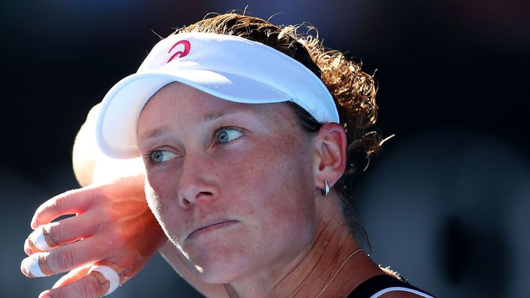 Sam Stosur: Blew a 5-2 lead in the final set