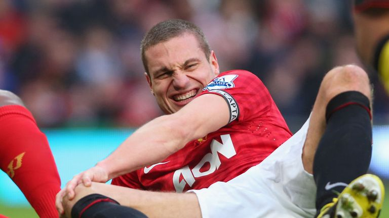 Nemanja Vidic: No fresh knee concern despite taking knock against Liverpool