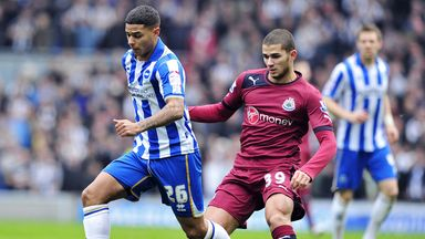 Mehdi Abeid (r): Newcastle midfielder has joined Panathinaikos on loan