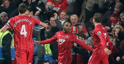 Jason Puncheon celebrates scoring a dramatic equaliser for Southampton
