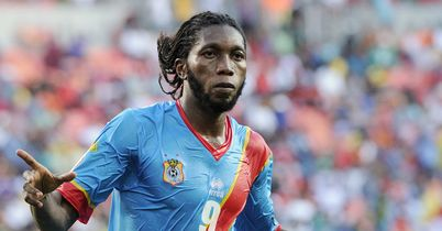 Dieumerci Mbokani: Celebrates his goal