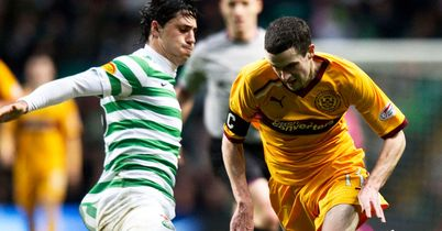 Jamie Murphy: In action during Motherwell's defeat at Celtic