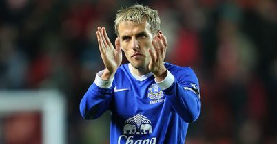 Phil Neville: Injury means he may be denied a final outing at Goodison Park