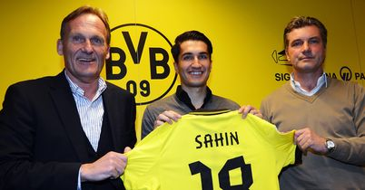 Nuri Sahin (c): Midfielder will spend the rest of the season at Borussia Dortmund