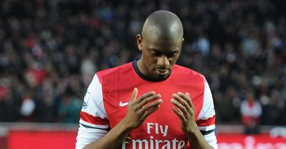 Abou Diaby: Arsenal midfielder returned to action in defeat by Manchester City