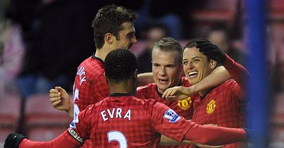 Javier Hernandez: Two goals for returning United striker