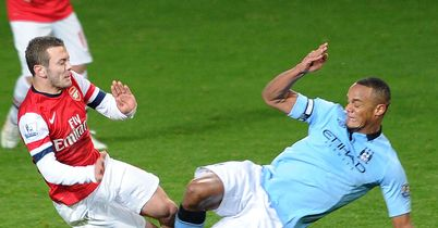 Vincent Kompany: Sent off for this tackle