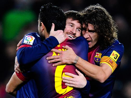 Barca and Messi celebrate another fantastis display