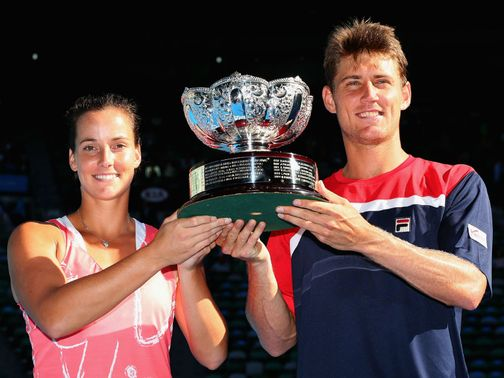 Jarmila Gajdosova &amp; Matthew Ebden won the Australian Open mixed doubles title