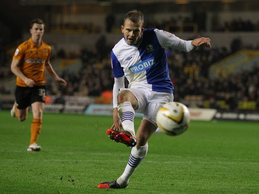 Jordan Rhodes gives Blackburn the lead from the spot