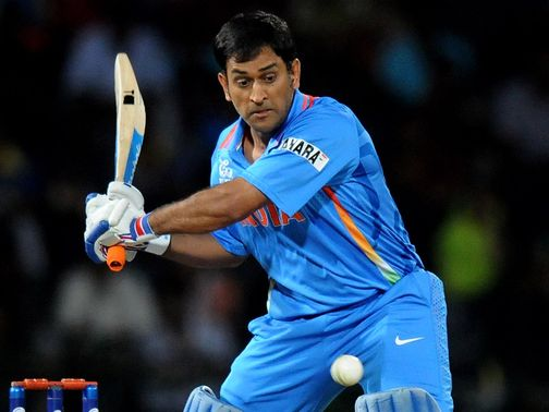 Mahendra Singh Dhoni: top-scored with 36 for India