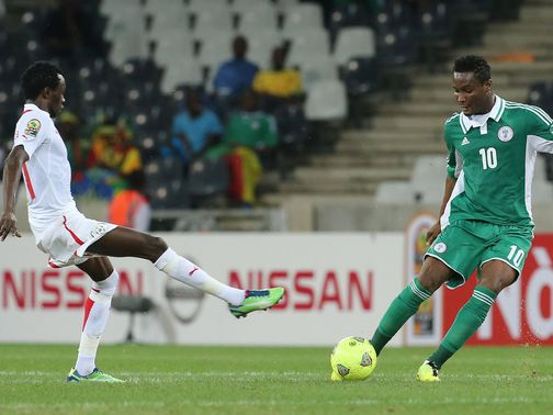 John Obi Mikel in action for Nigeria