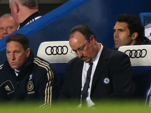 Rafael Benitez: Getting flak from Chelsea fans