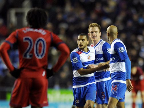 Late celebrations for Reading against West Brom