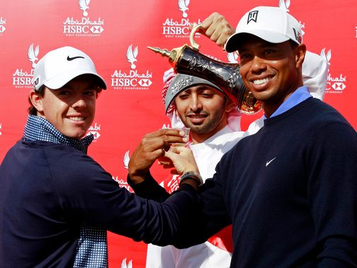 McIlroy and Woods: Out together on Thursday and Friday