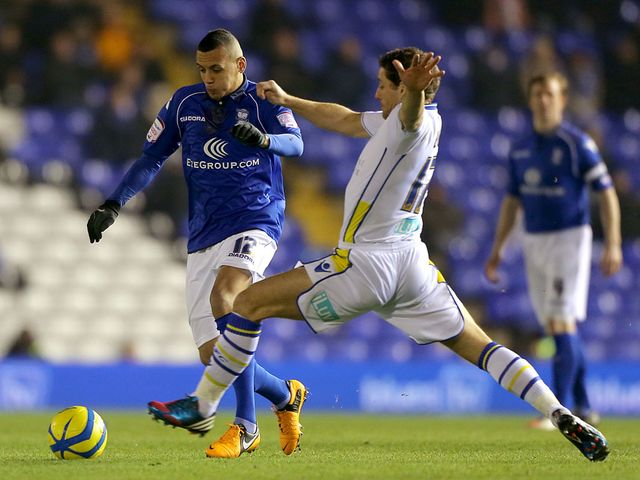 Ravel Morrison and Michael Brown battle for the ball