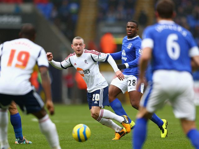 Jay Spearing in action for Bolton