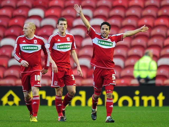 Middlesbrough celebrate against Hastings