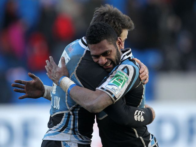 Glasgow celebrate against Northampton