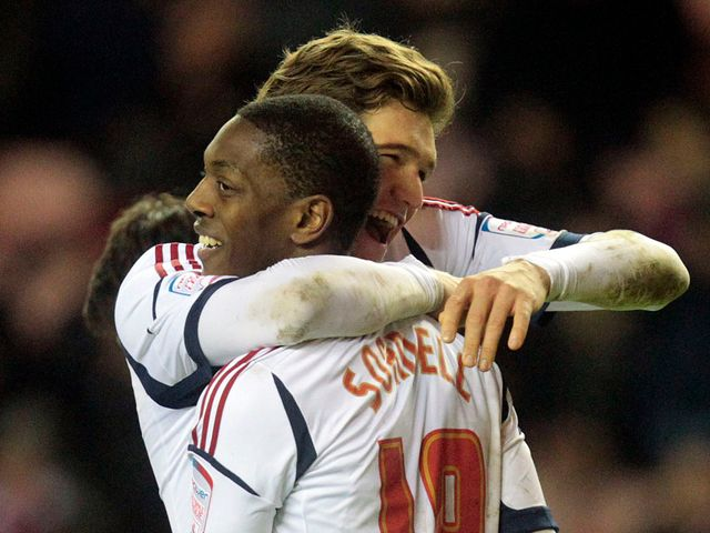 Marvin Sordell's double saw Bolton progress